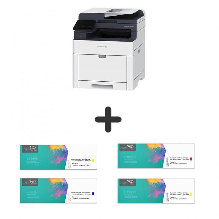 (打印機+代用碳粉套裝) Fuji Xerox DocuPrint CP315dw 彩色鐳射打印機